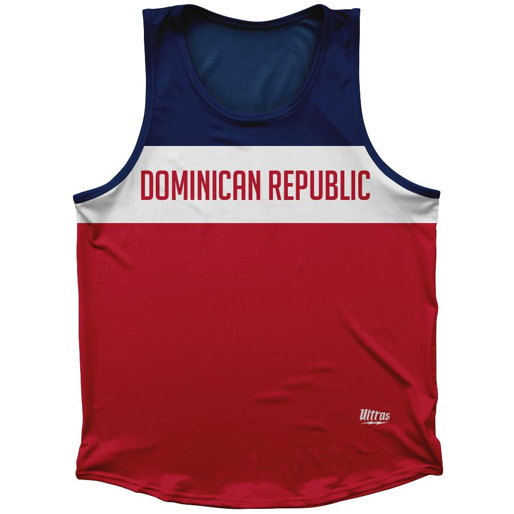 Dominican Republic Country Finish Line Athletic Sport Tank Top Made In USA
