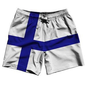 "Finland Country Flag 7.5"" Swim Shorts by Ultras"