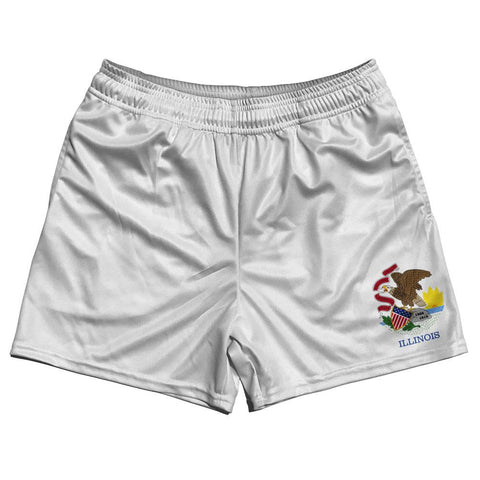Illinois State Flag Rugby Shorts Made In USA by Ruckus