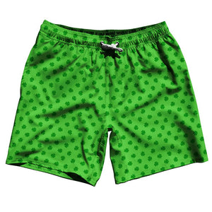 Ireland Irish Shamrock Clovers Swim Shorts 7.5""