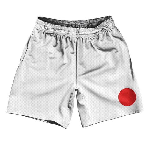 "Japan Country Flag Athletic Running Fitness Exercise Shorts 7"" Inseam Made In USA By Ultras Sportswear"