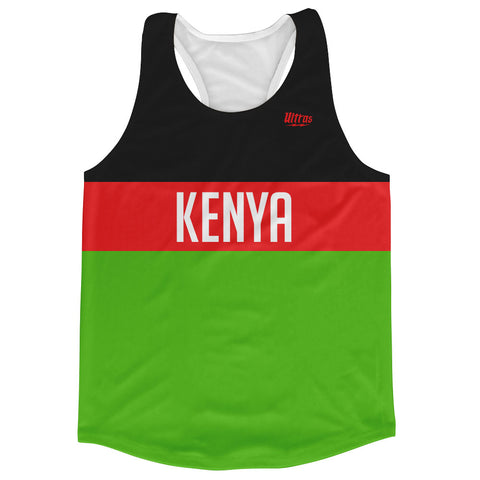 Kenya Country Finish Line Running Tank Top Racerback Track and Cross Country Singlet Jersey
