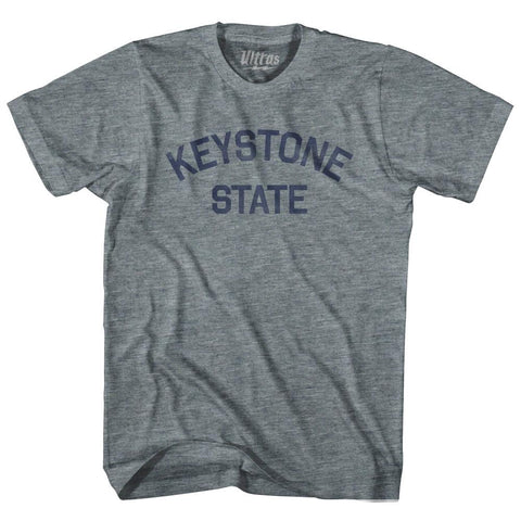 Pennsylvania Keystone State Nickname Adult Tri-Blend T-shirt by Ultras