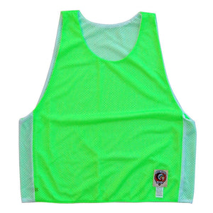 Neon Green and White Reversible Lacrosse Pinnie in Neon Green & White by Tribe Lacrosse