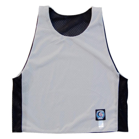 Black and White Reversible Lacrosse Pinnie in Black/White by Tribe Lacrosse