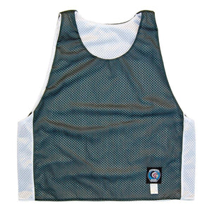 Hunter and White Reversible Lacrosse Pinnie in Hunter/White by Tribe Lacrosse