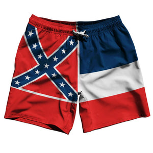 "Mississippi US State 7.5"" Swim Shorts by Ultras"
