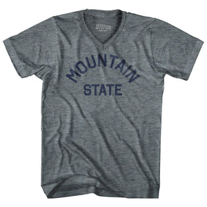 West Virginia MOuntain State Nickname Adult Tri-Blend V-neck T-shirt by Ultras