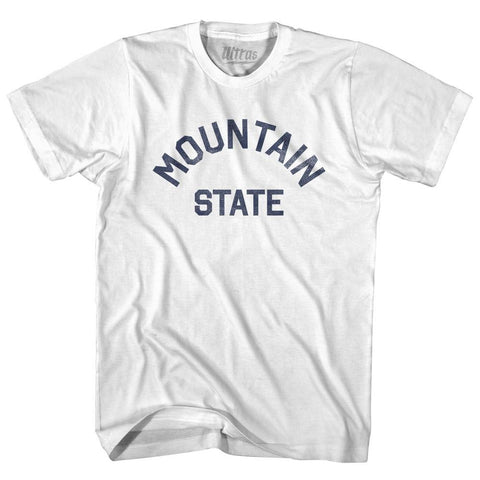 West Virginia Mountain State Nickname Adult Cotton T-shirt by Ultras