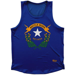 Nevada State Flag Athletic Sport Tank Top Made In USA by Ultras