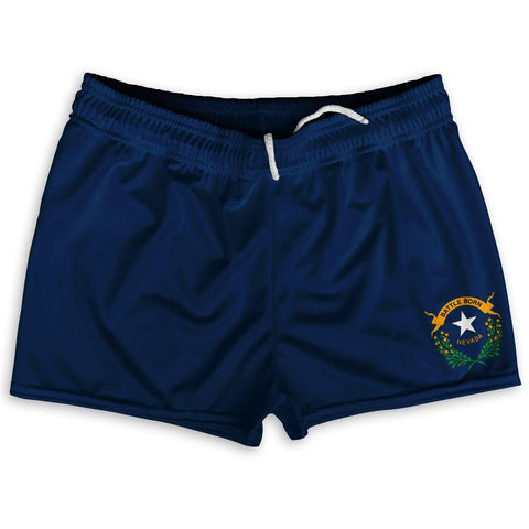 "Nevada State Flag Shorty Short Gym Shorts 2.5"" Inseam by Ultras"