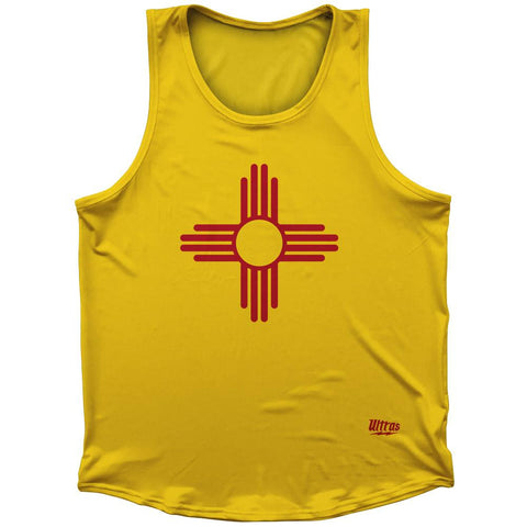 New Mexico State Flag Athletic Sport Tank Top Made In USA by Ultras