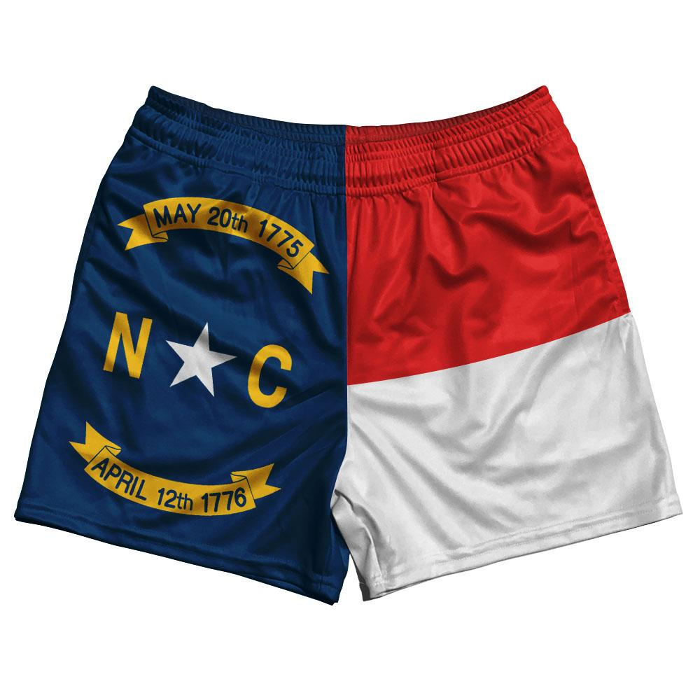 North Carolina State Flag Rugby Shorts Made In USA by Ruckus
