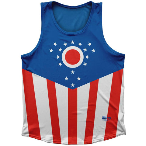 Ohio State Flag Athletic Sport Tank Top Made In USA by Ultras