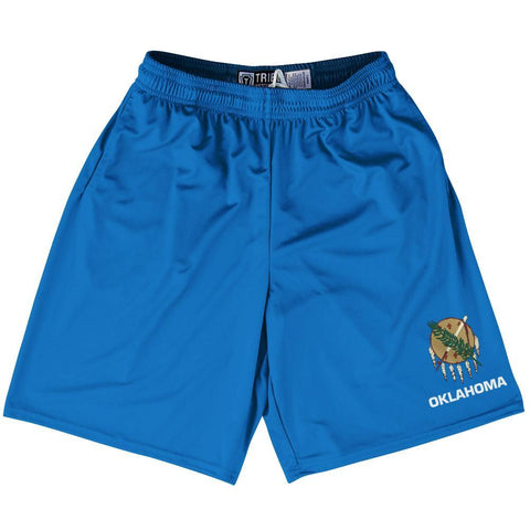 "Oklahoma State Flag 9"" Inseam Lacrosse Shorts by Tribe Lacrosse"