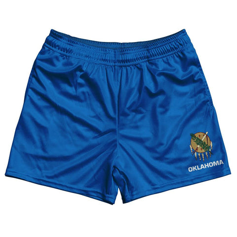 Oklahoma State Flag Rugby Shorts Made In USA by Ruckus