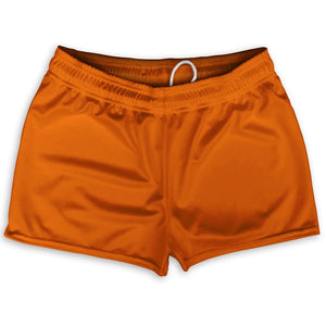 "Orange Burnt Austin Shorty Short Gym Shorts 2.5""Inseam By Ultras Sportswear"