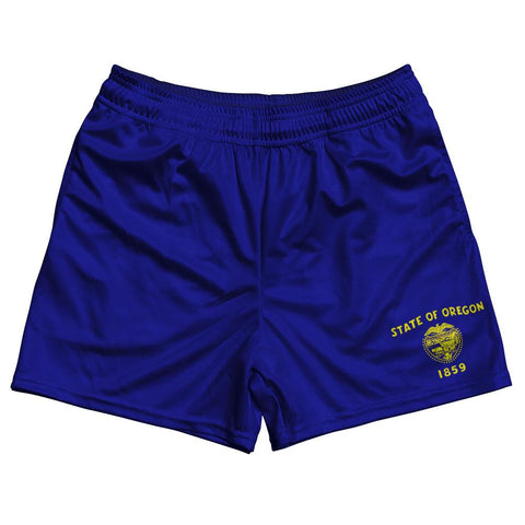Oregon State Flag Rugby Shorts Made In USA by Ruckus