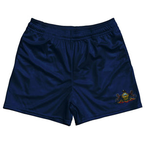 Pennsylvania State Flag Rugby Shorts Made In USA by Ruckus
