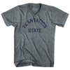 Rhode Island Plantation State Nickname Adult Tri-Blend V-neck T-shirt by Ultras