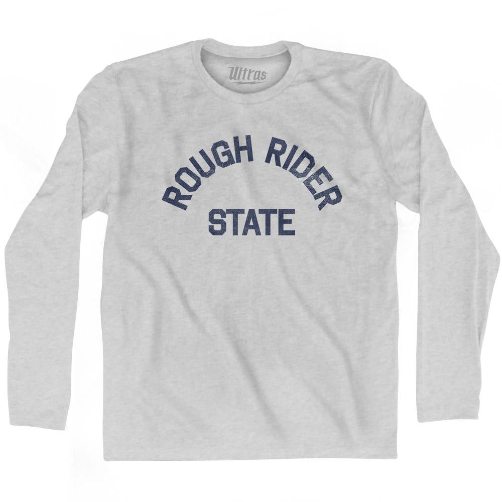 North Dakota Rough Rider State Nickname Adult Cotton Long Sleeve T-shirt by Ultras