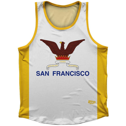 San Francisco Flag Athletic Sport Tank Top Made In USA by Ultras