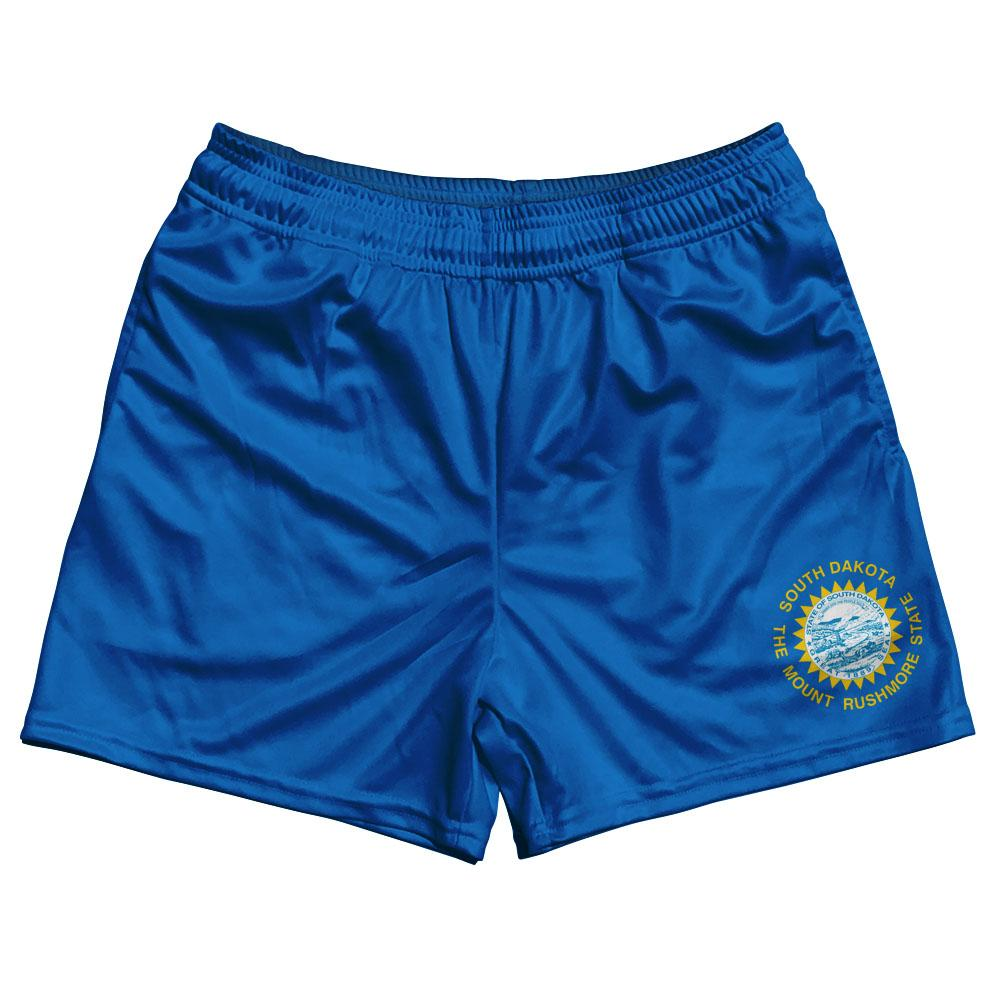 South Dakota State Flag Rugby Shorts Made In USA by Ruckus