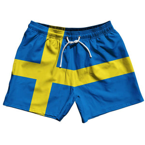 "Sweden Country Flag 5"" Swim Shorts by Ultras"
