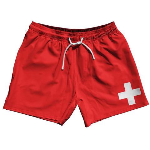 "Switzerland Country Flag 5"" Swim Shorts by Ultras"