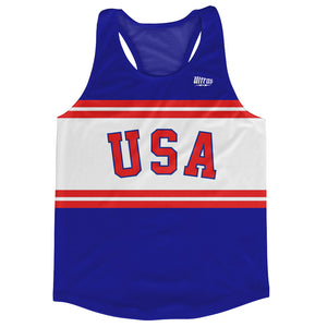 USA Arched Running Track & Field Running Cross Country Tank Racerback Top