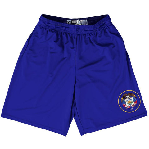 "Utah State Flag 9"" Inseam Lacrosse Shorts by Tribe Lacrosse"