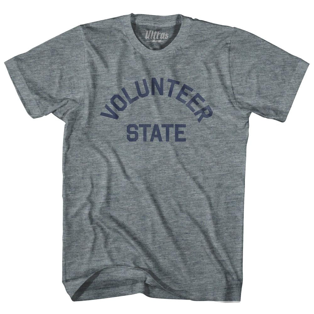 Tennessee Volunteer State Nickname Adult Tri-Blend T-shirt by Ultras