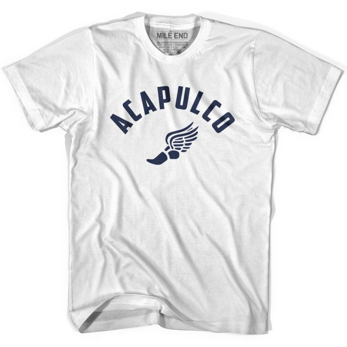 Acapulco Track T-shirt - White / Youth X-Small - Mile End Track