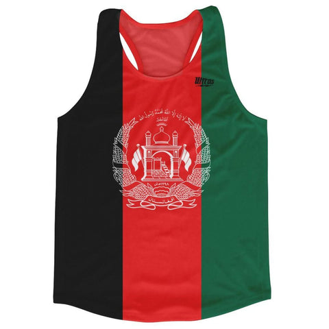 Afghanistan Country Flag Running Shirt Track Cross Country Performance Top Made in USA