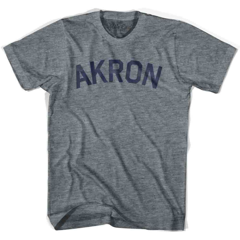 Akron City Vintage T-shirt - Grey Heather / Youth X-Small - Mile End City