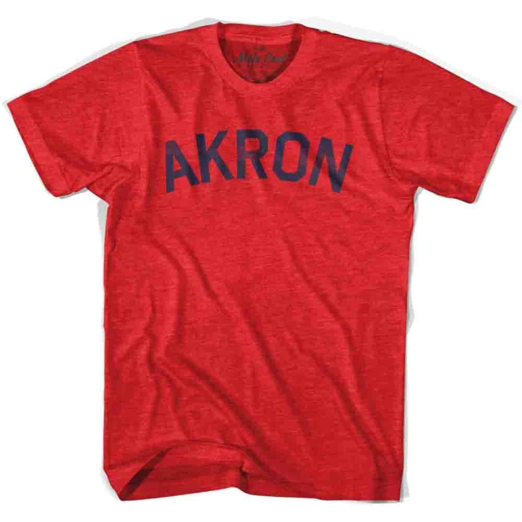 Akron City Vintage T-shirt - Heather Red / Adult X-Small - Mile End City