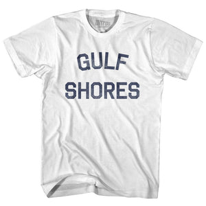 Alabama Gulf Shores Womens Cotton Junior Cut Vintage T-shirt by Ultras