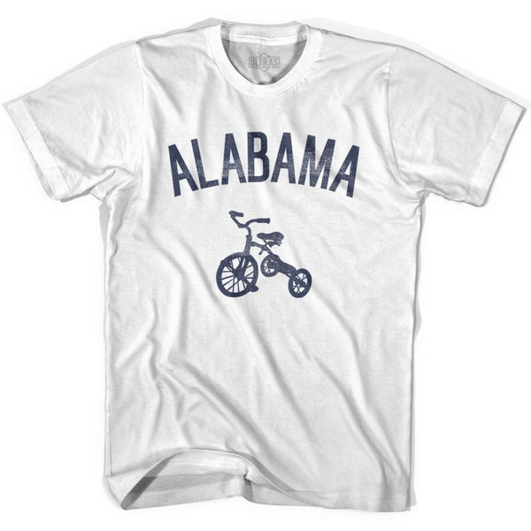 Alabama State Tricycle Womens Cotton T-shirt - White / Womens Small - Tricycle State