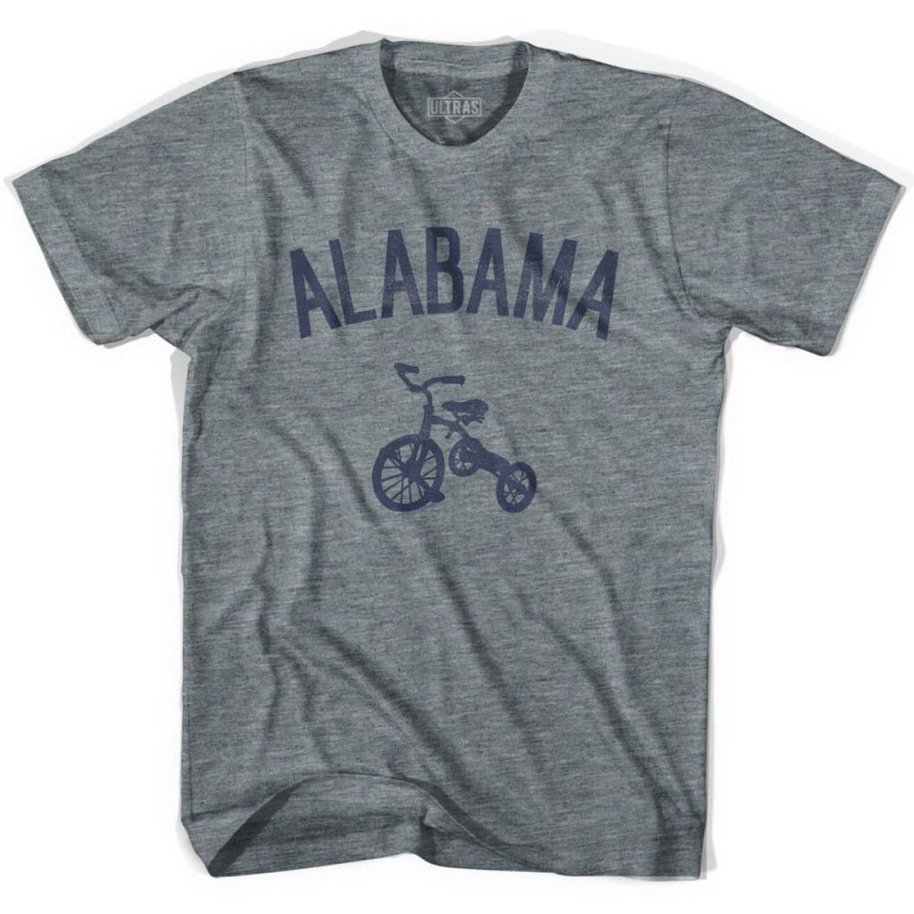 Alabama State Tricycle Youth Tri-Blend T-shirt - Athletic Grey / Youth X-Small - Tricycle State