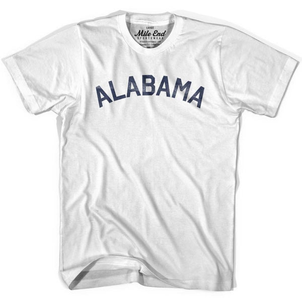 Alabama Union Vintage T-shirt - White / Youth X-Small - Mile End City