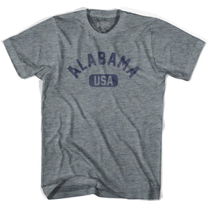 Alabama USA Adult Tri-Blend T-shirt - Athletic Grey / Adult X-Small - USA State