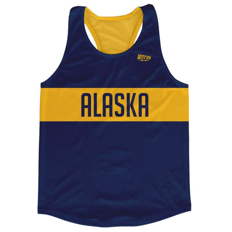 Alaska Finish Line Running Tank Top Racerback Track and Cross Country Singlet Jersey - Navy / Adult X-Small - Running Top