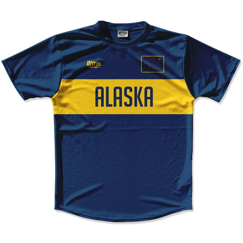 Ultras Alaska Flag Finish Line Running Cross Country Track Shirt Made In USA