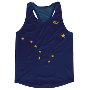 Alaska State Flag Running Tank Top Racerback Track and Cross Country Singlet Jersey - Navy / Adult X-Small - Running Top