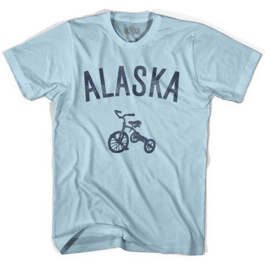 Alaska State Tricycle Adult Cotton T-shirt - Light Blue / Adult Small - Tricycle State