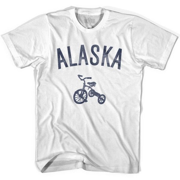 Alaska State Tricycle Adult Cotton T-shirt - White / Adult Small - Tricycle State
