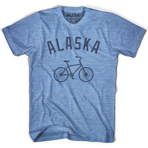 Alaska Vintage Bike T-shirt - Athletic Blue / Adult X-Small - Vintage Bike T-shirt