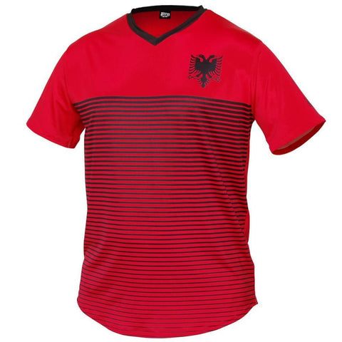 Albania Rise Soccer Jersey - Red / Toddler 1 / No - Ultras Country Soccer Jerseys