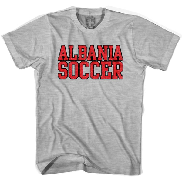 Albania Soccer Nations World Cup T-shirt - Grey Heather / Youth X-Small - Ultras Soccer T-shirts