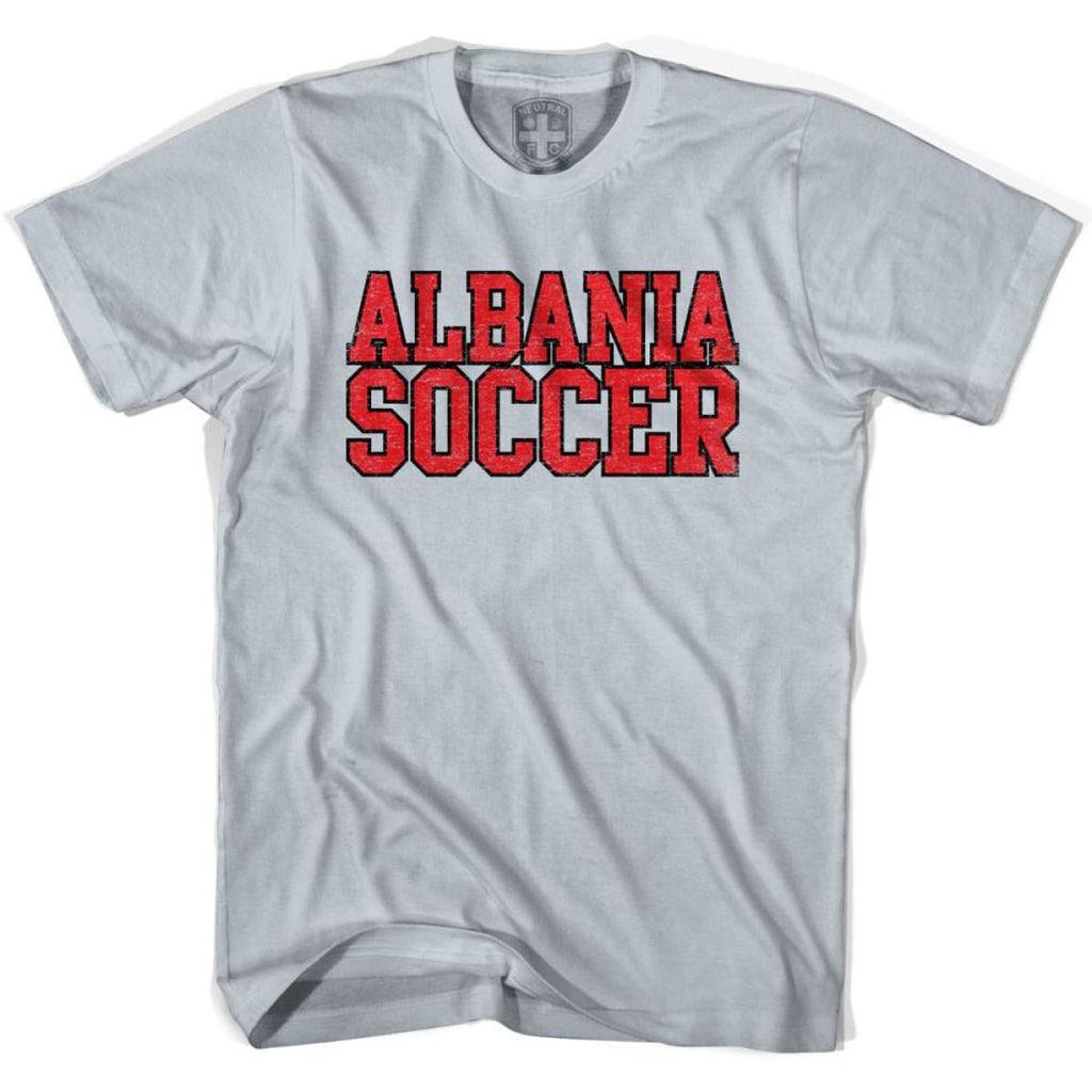 Albania Soccer Nations World Cup T-shirt - Silver / Youth X-Small - Ultras Soccer T-shirts